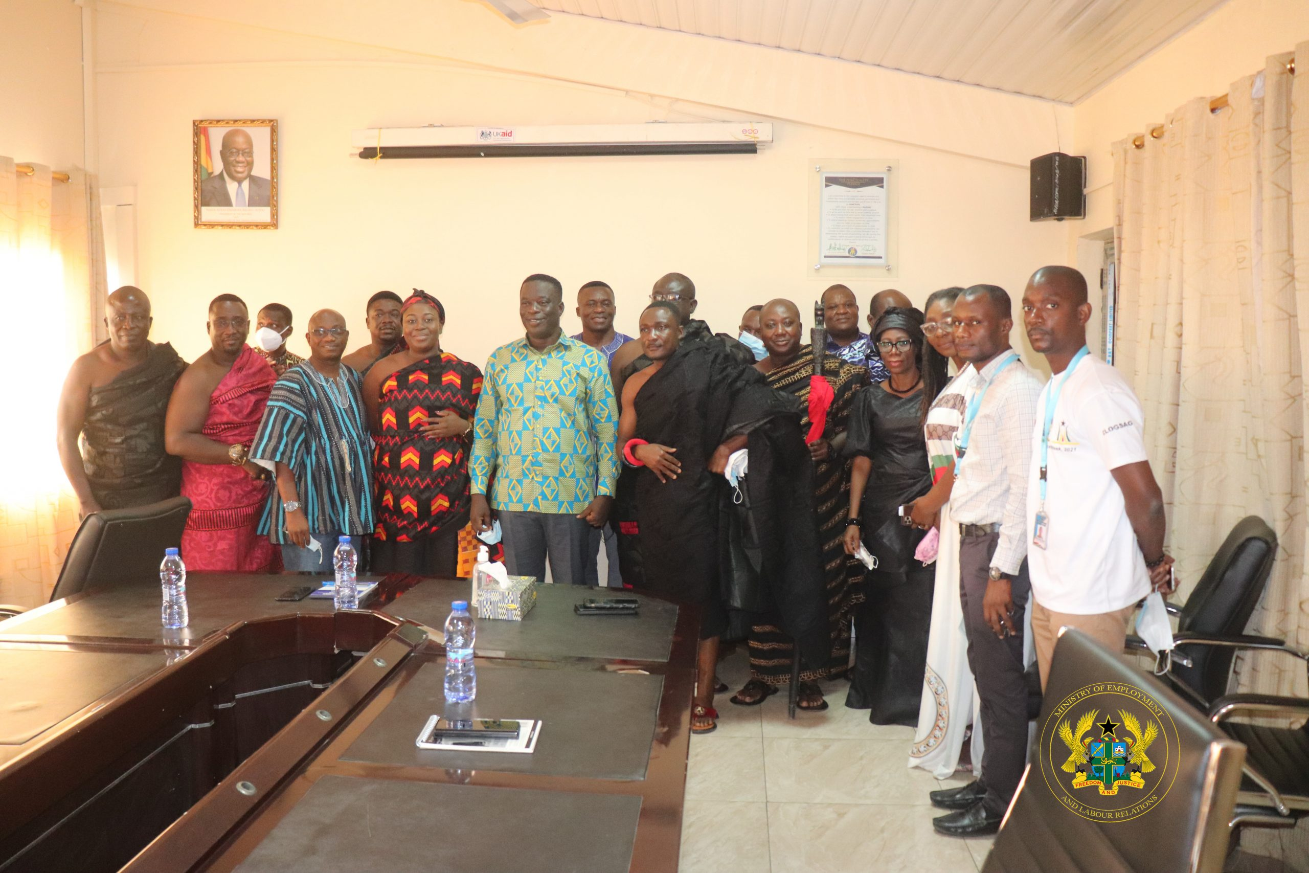 AKWAMU TRADITIONAL COUNCIL PAYS COURTESY CALL ON HONOURABLE MINISTER